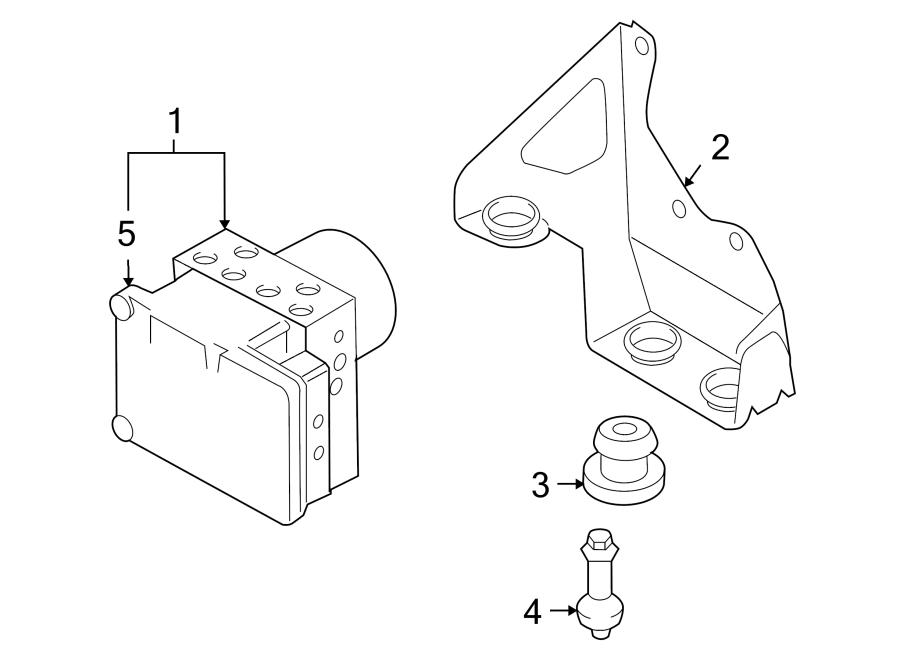 Porsche Cayenne Abs. Modulator. Hydraulic. Pump assembly