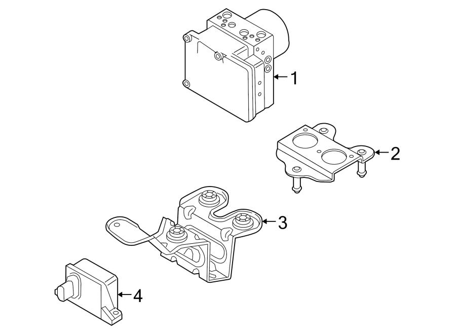 Porsche Cayenne Abs hydraulic assembly. Control, light