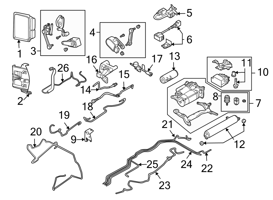 2004 Porsche Cayenne Suspension Yaw Sensor. Rear, CONTROL