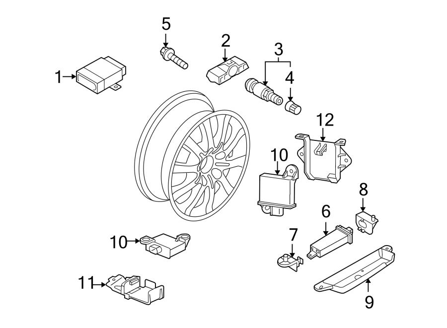 2009 Porsche Cayenne Tire Pressure Monitoring System