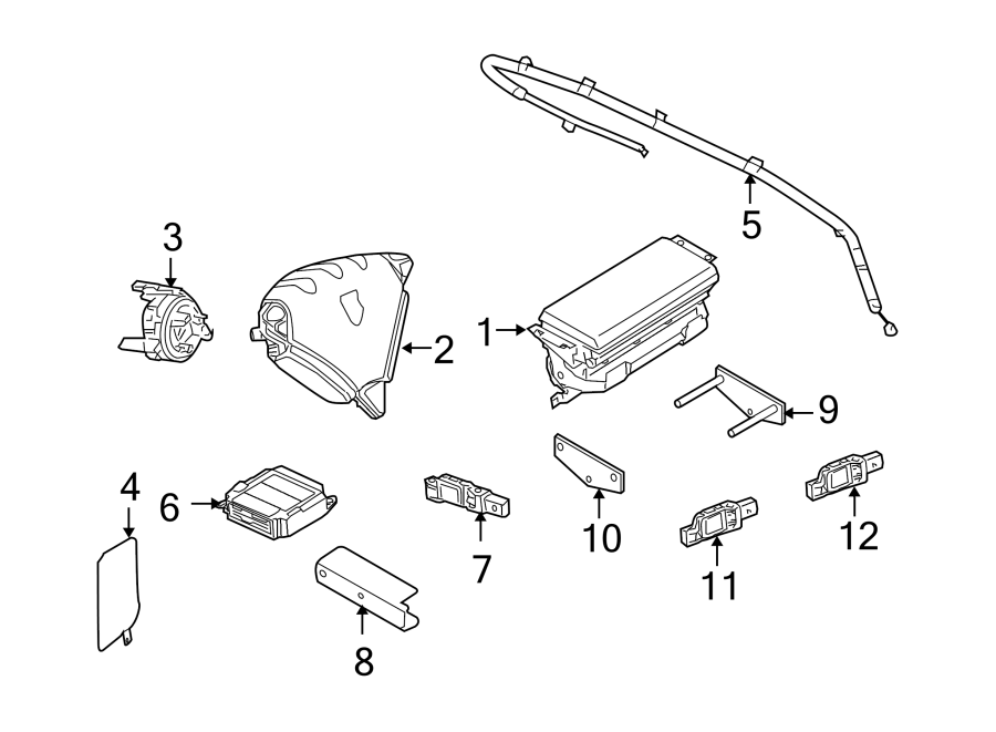 Porsche Cayenne Air Bag Impact Sensor. FRONT SENSOR AIRBAG