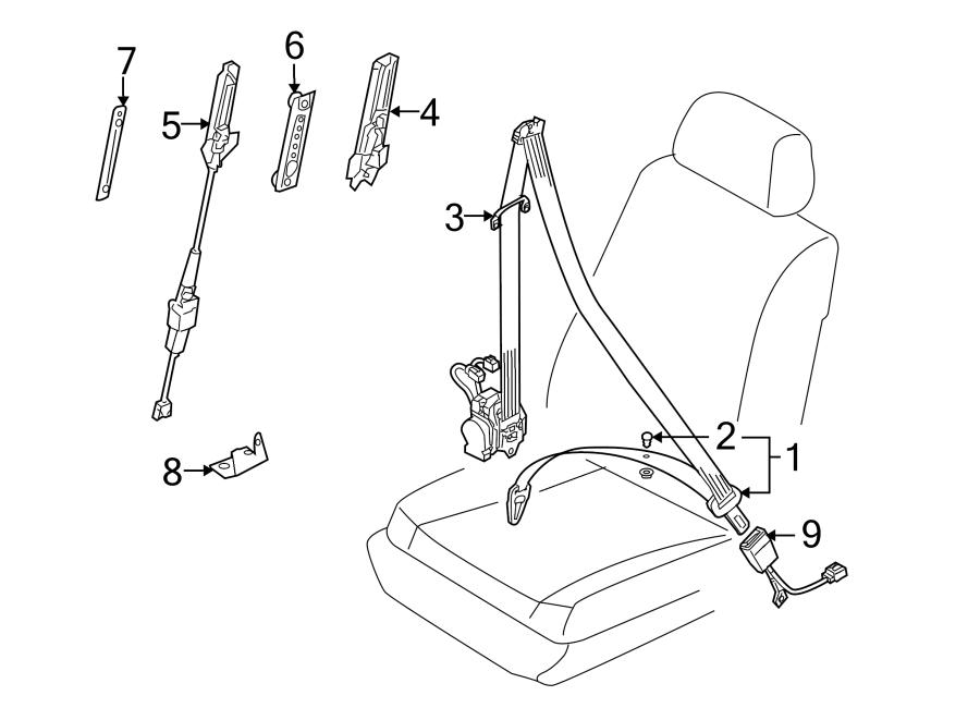 2005 Porsche Cayenne Seat Belt Receptacle. Buckle, Right
