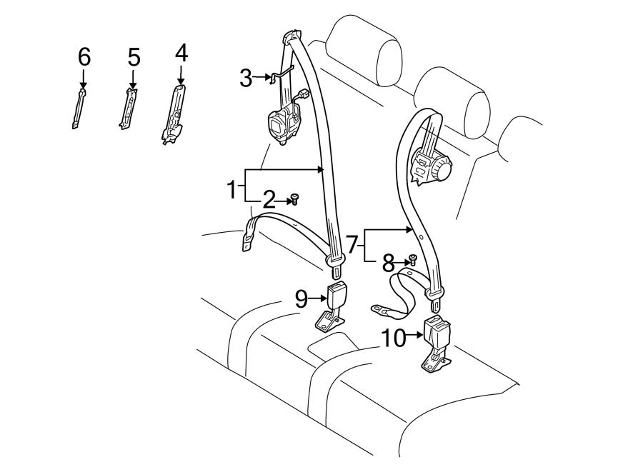 Porsche Cayenne Seat Belt Receptacle (Rear). Buckle, End