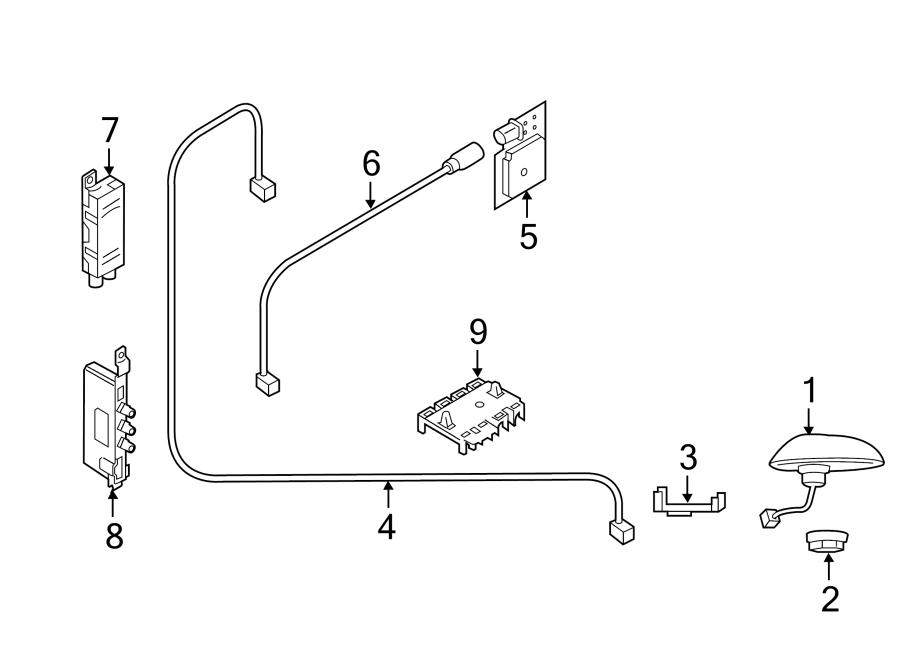 Porsche Cayenne Gps navigation system antenna. 2011-16