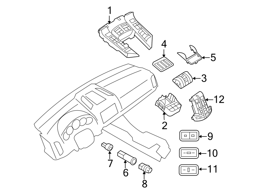 Porsche Cayenne Control part. Heater control. Seats