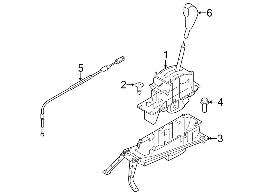2014 Porsche Cayenne Automatic Transmission Shifter Cable