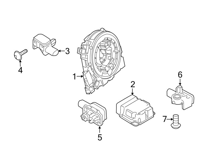 Porsche Cayenne Air Bag Impact Sensor (Front