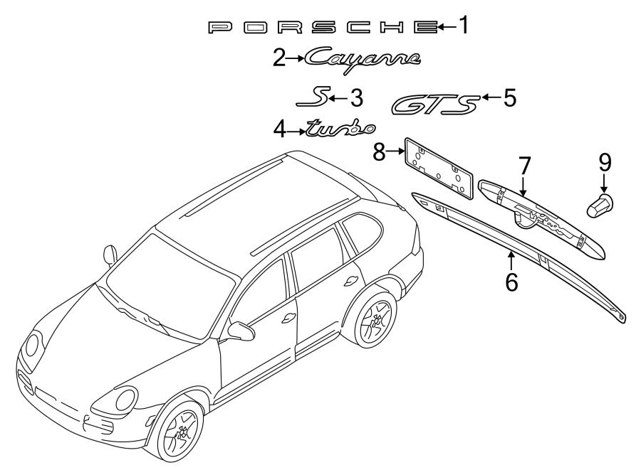 2013 Porsche Cayenne Liftgate Finish Panel (Rear