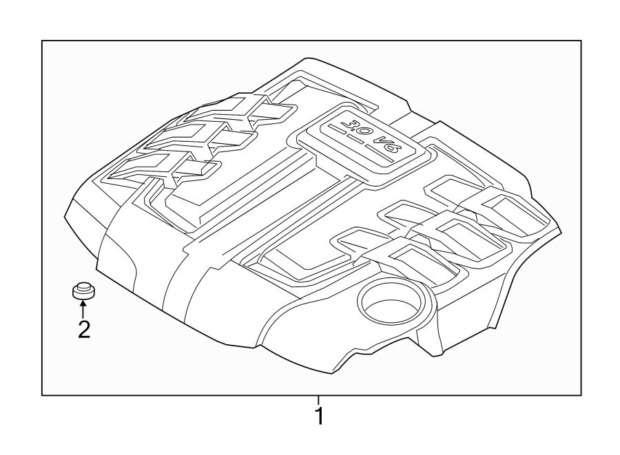 Porsche Cayenne Cover. Engine. Stud. (Rear). 3.0 LITER