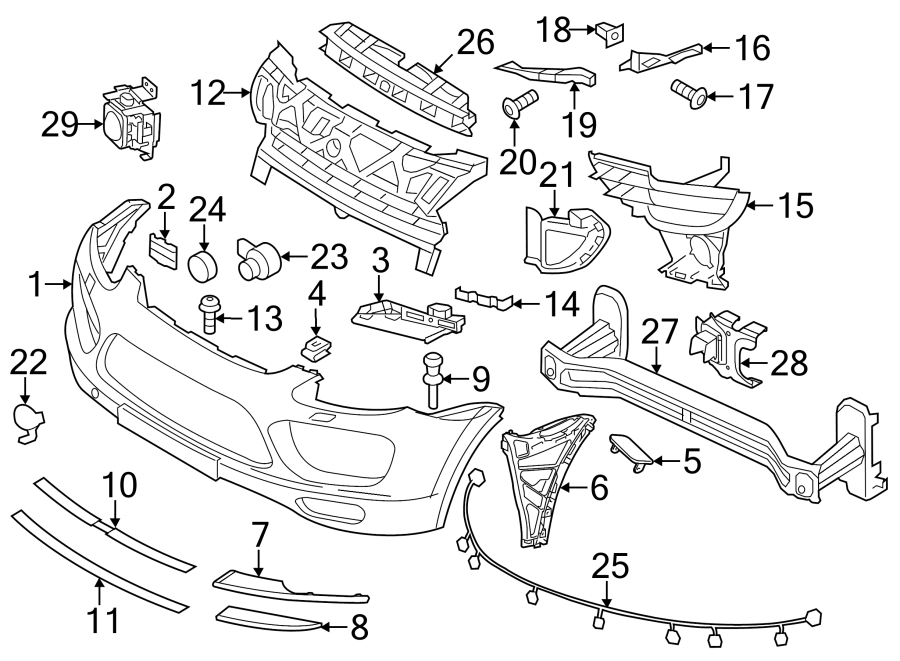 Porsche Cayenne Parking Aid System Wiring Harness