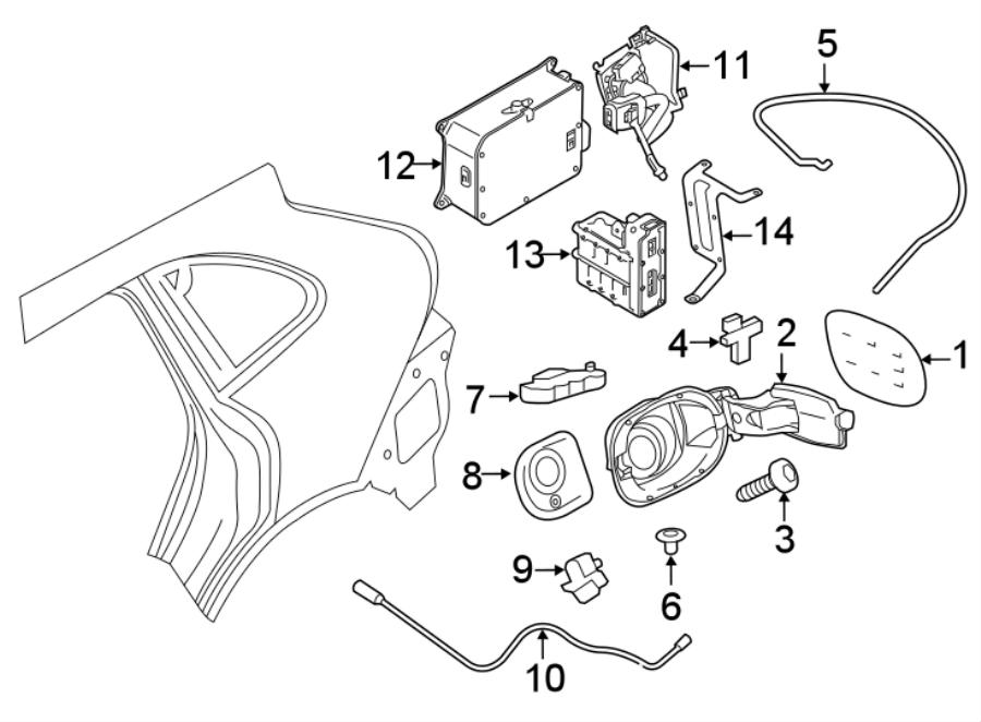 Porsche Cayenne Fuel Filler Door Lock Actuator. Release