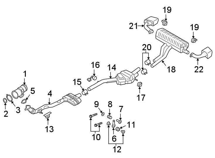 Porsche Cayenne Catalytic Converter. 3.0 LITER, w/E-HYBRID