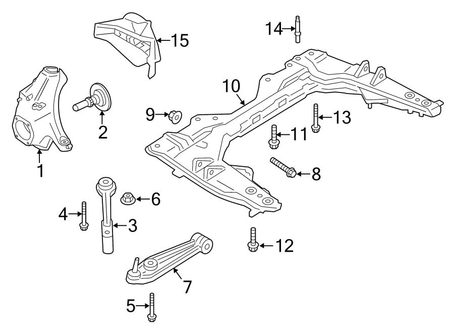 Porsche Boxster Suspension Subframe Crossmember. FRONT