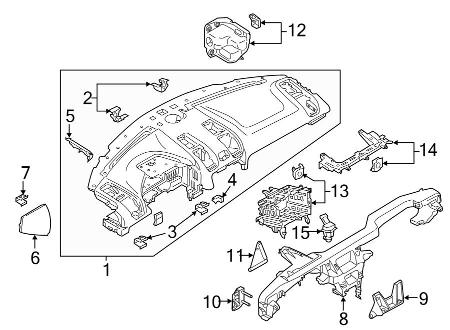 2013 Porsche Boxster As dashboard support. Dashboard panel