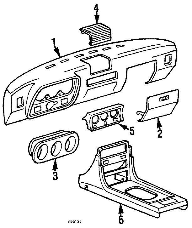 1984 Porsche 944 Dash pad. DASHBOARD LINING. Instrument