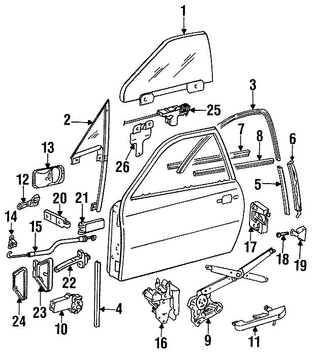 1987 Porsche 944 Door handle w/lock c. Handle, outside