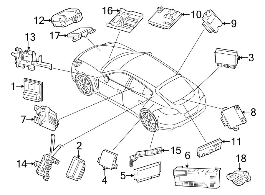 Porsche Cayenne Control module. Module. Trailer Brake