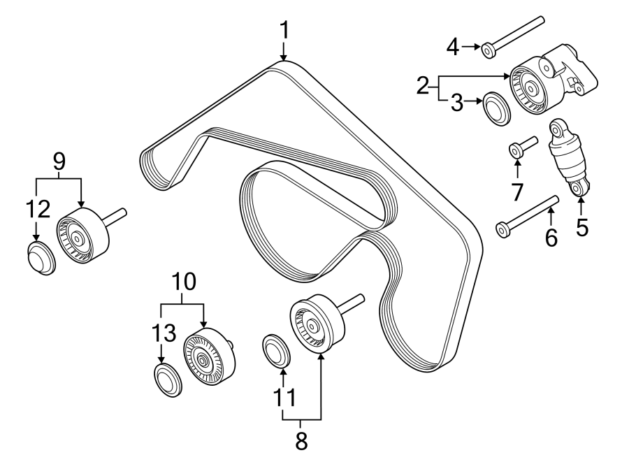 Porsche Macan Tensioner. Belt. LITER, Drive, Adjuster