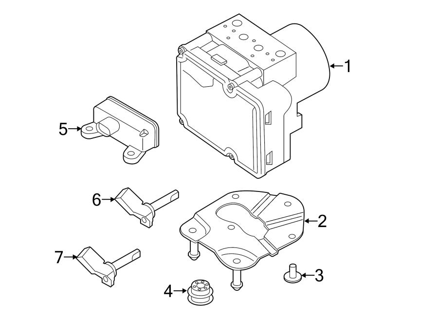 Porsche Macan Abs control unit. Sensor. Multiple sensor