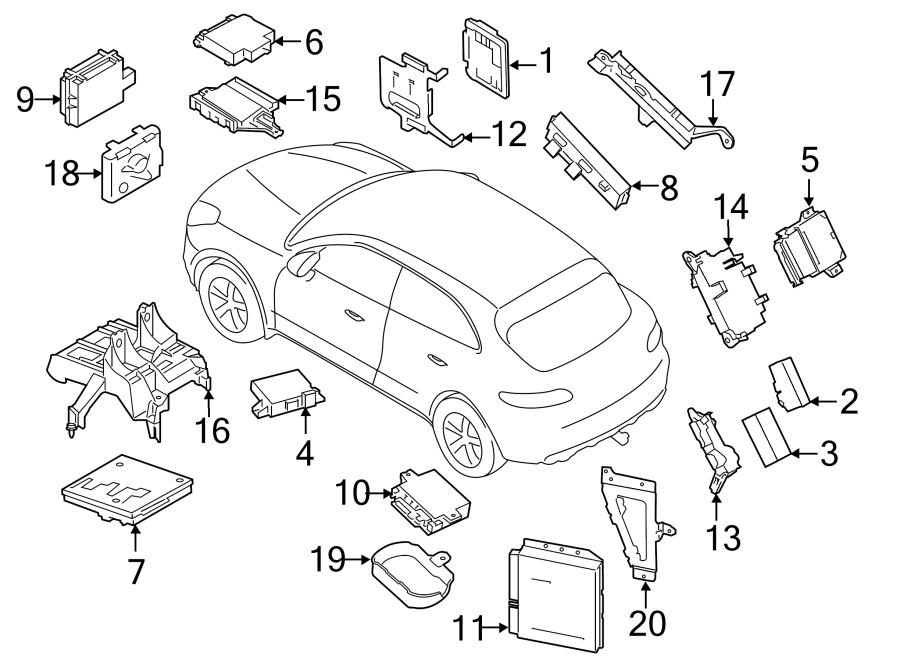 2016 Porsche Macan Trailer Light Control Module. CONTROL