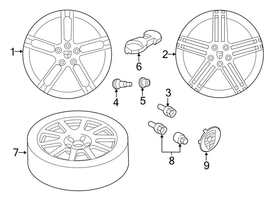 2015 Porsche Macan Wheel Cap. 18, w/colored crest, chrome