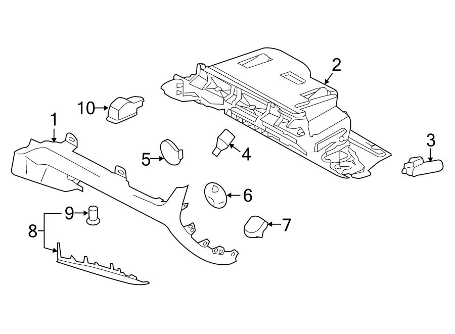 2015 Porsche Macan Glove Box Assembly. Leather, tan