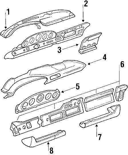 Porsche 911 Gauge bezel. INSTR. PANEL TRIM. 1984-85. 1986