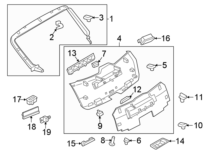 Porsche Macan Parking Aid System Speaker. Lift gate