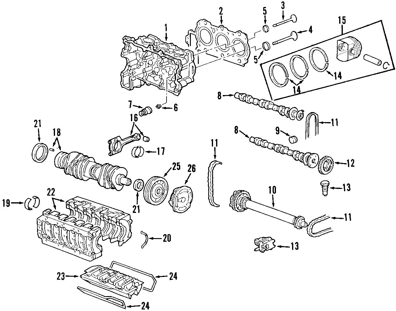 Porsche Boxster Engine Piston Ring Rings Set