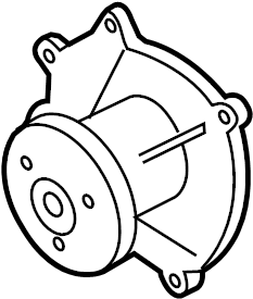 Porsche Boxster Engine Water Pump. COOLING, Left, Right