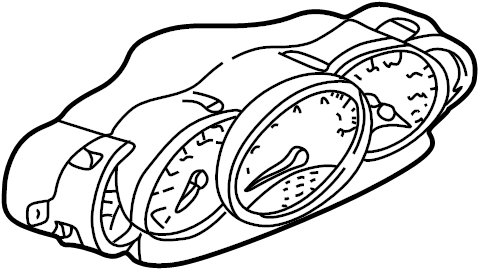 Porsche 911 Instrument Cluster. 1999-01, 2WD, manual trans