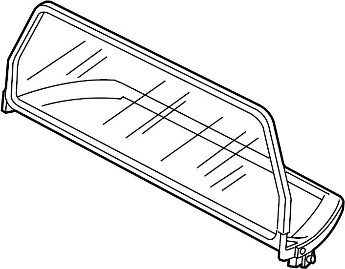 Porsche 911 Air deflector. DEFLECTOR ASSEMBLY. Windbreak