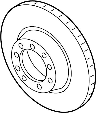 Porsche 911 Disc Brake Rotor. BRAKES, CERAMIC, GTS