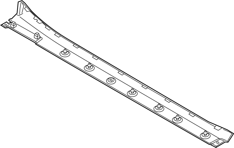 Porsche 911 Molding As Trim Strip Cover Pillar Rocker Panel Guard Roof Rail