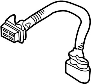 Porsche Cayenne Headlight Wiring Harness. Wire harness