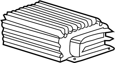 2009 Porsche Cayenne Radio Amplifier. Radio Amplifier
