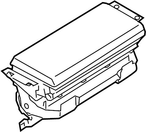 Porsche Cayenne Air Bag Module. PASSENGER INFLATOR MODULE