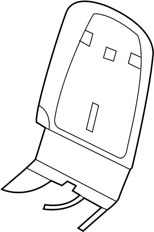 Porsche Cayenne Seat Back Panel (Rear). SEAT BACK, black