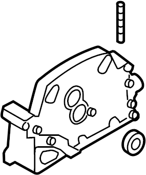 Porsche Cayenne Engine Timing Cover (Front, Upper). 3.6