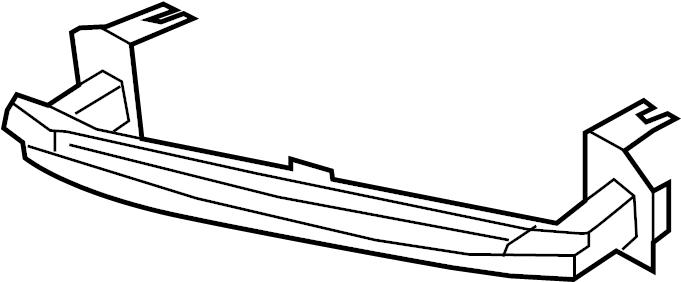 2006 Porsche Cayenne Bumper reinforcement. Impact bar