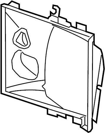 Porsche Cayenne Radiator Support Air Duct (Left, Rear). 3