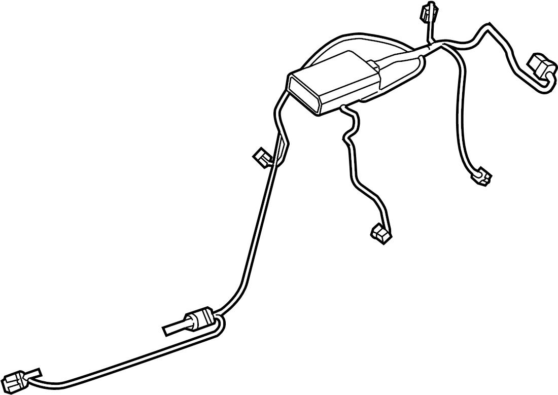 Porsche Cayenne Hvac system wiring harness. Air, wire