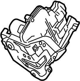 Porsche Panamera Door Latch Assembly. Door Lock Actuator