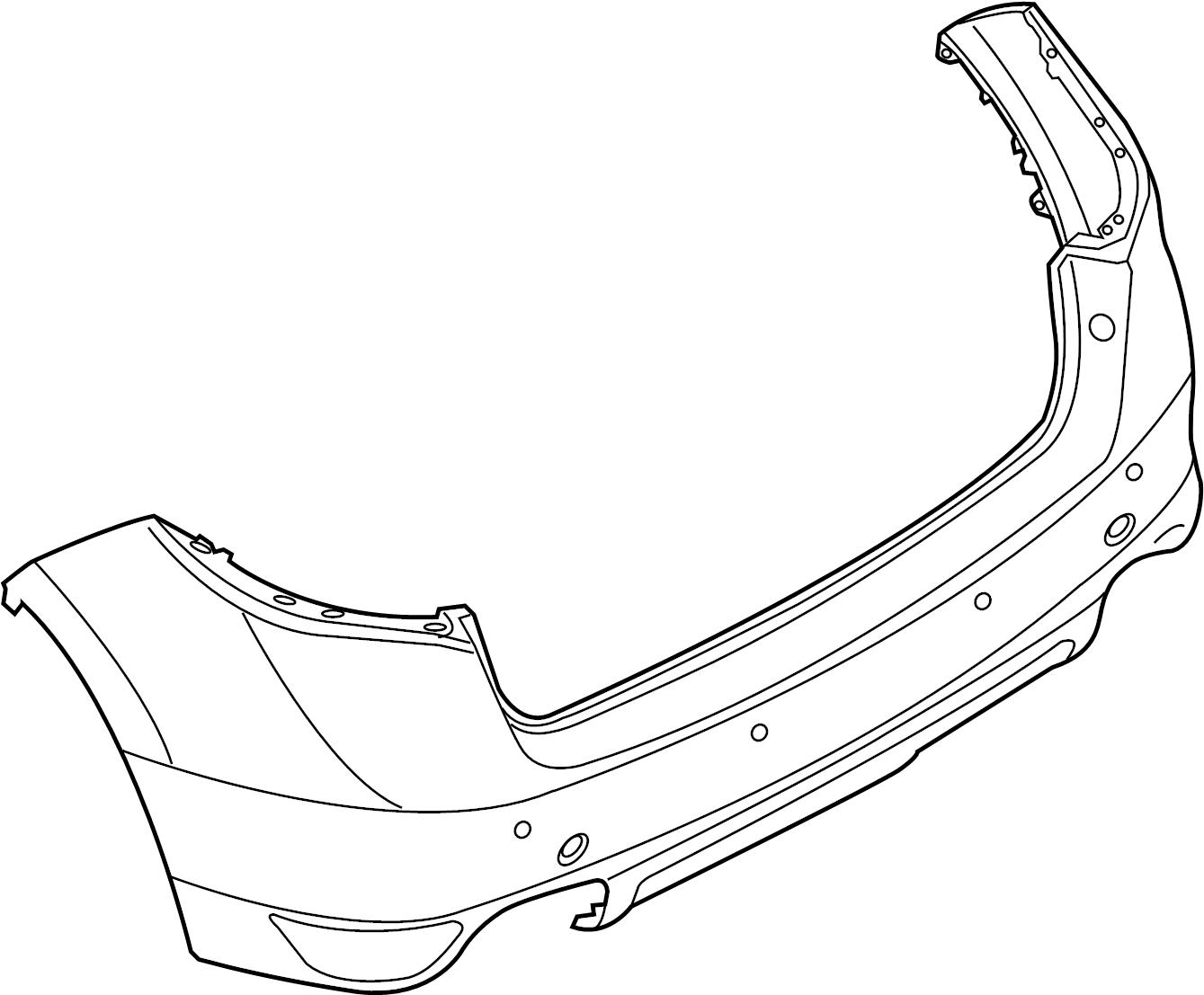 2013 Porsche Cayenne Bumper cover. LINING REAR PRIME CO