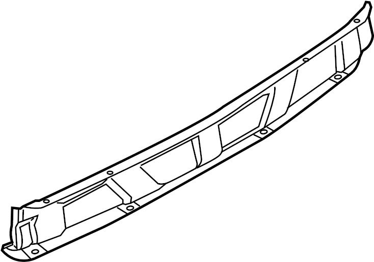 2014 Porsche Cayenne Bumper Cover Spacer Panel (Rear