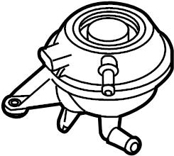 Porsche Cayenne Engine Coolant Reservoir. Reservoir tank