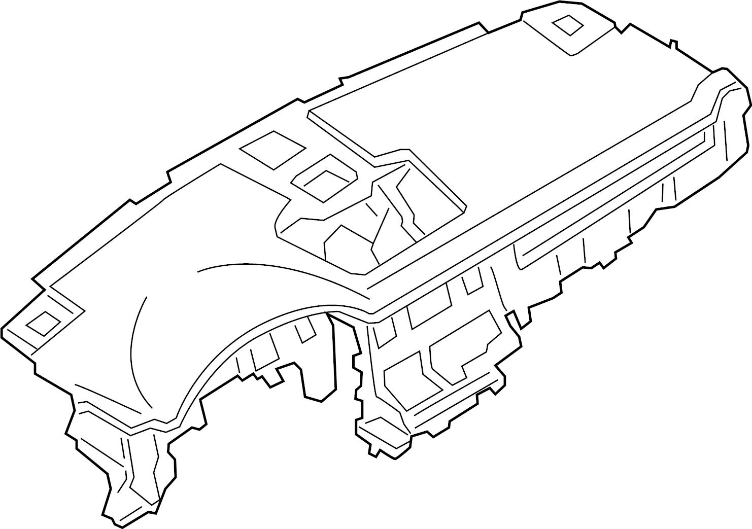 Porsche Cayenne Dashboard Panel. Instrument, Black, Make