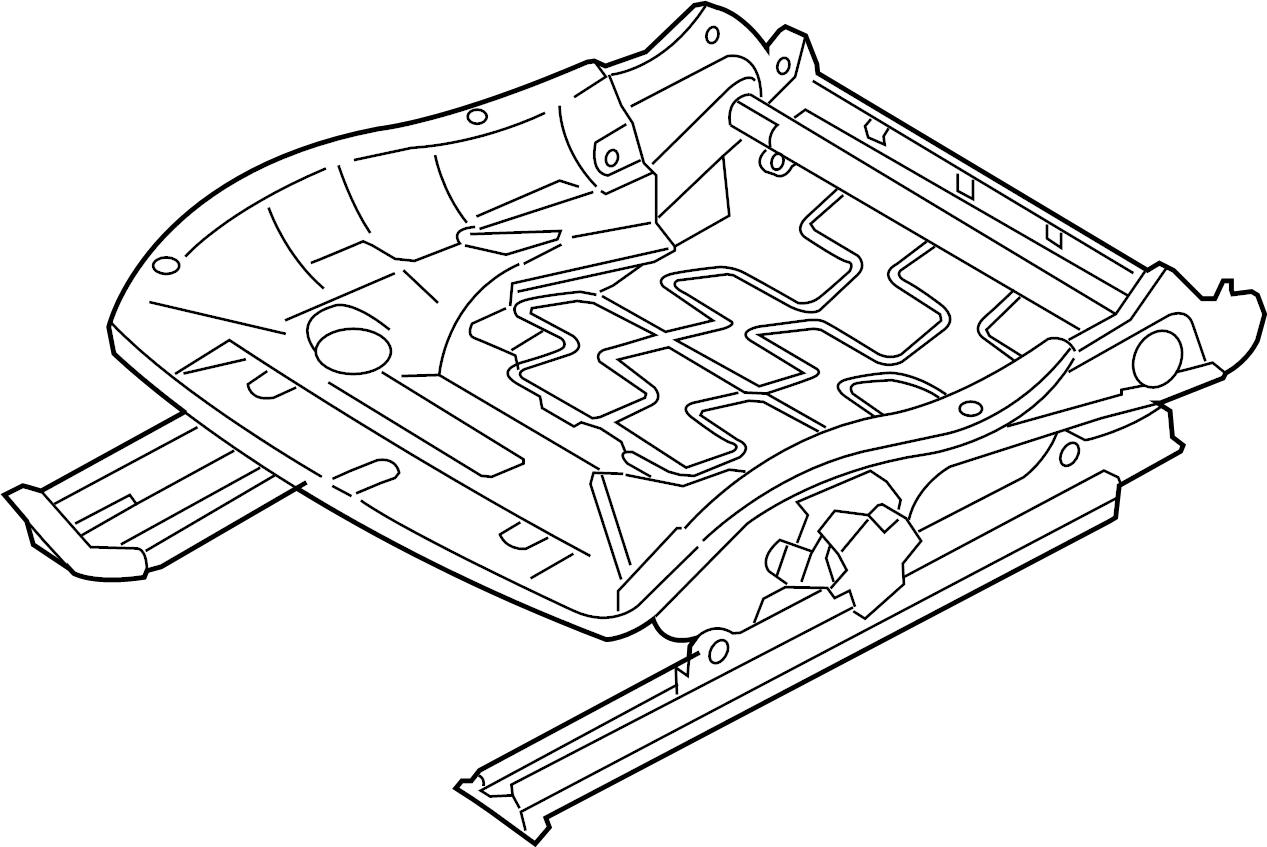 2011 Porsche Boxster Seat. Track. Adjust. Mechanism. AS