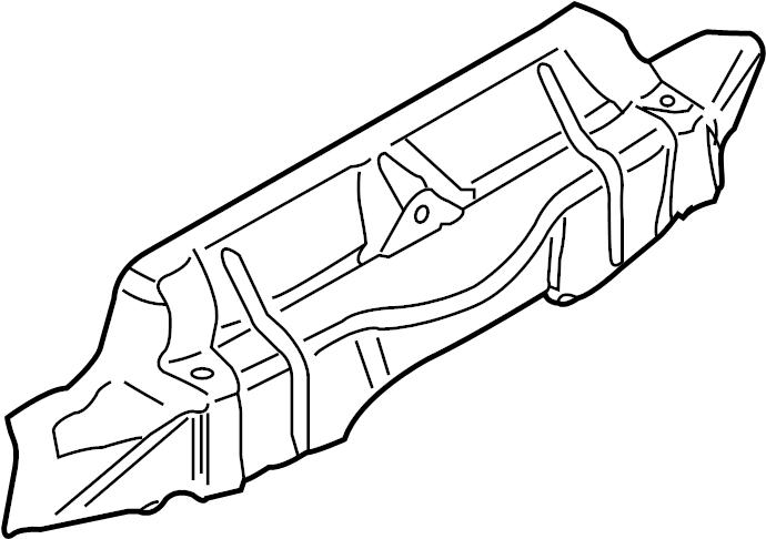 2006 Porsche Boxster Bumper Cover Heat Shield. Park