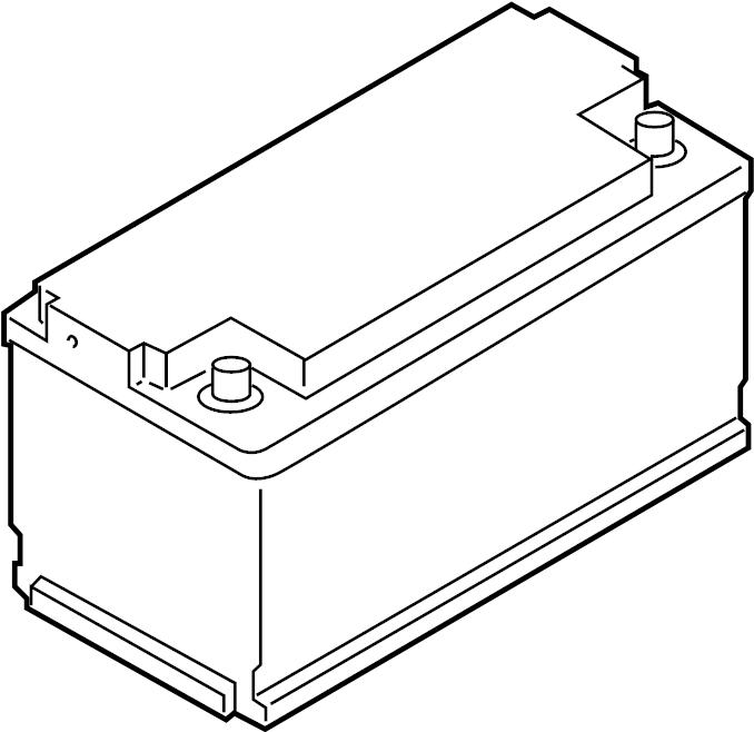 Porsche Macan Battery. Vehicle Battery. Hour, Amp, REAR